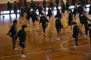 1年生スポーツ大会 準備体操